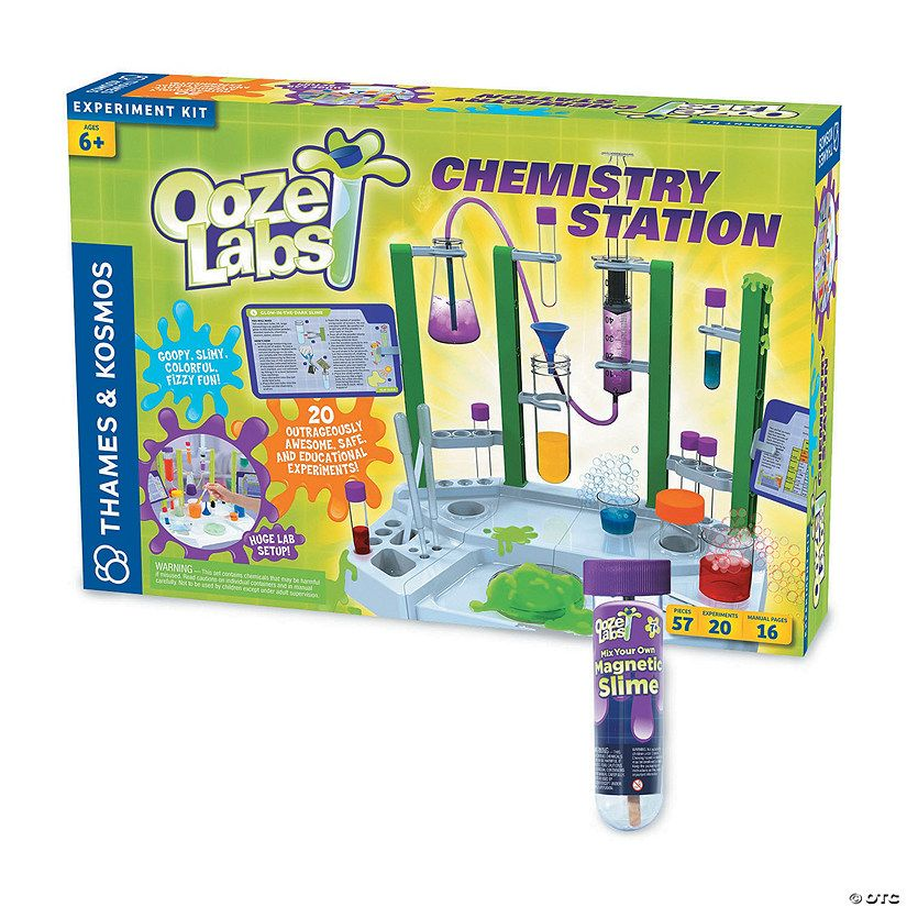 Ooze lab chemistry station with free magnetic slime%7e13826684