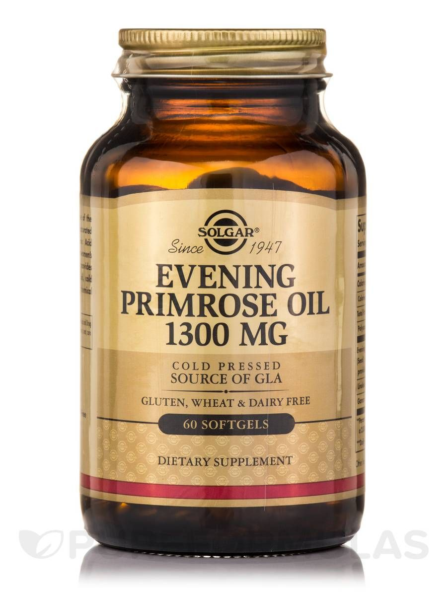 Evening primrose oil 1300 mg 60 softgels by solgar vitamin and herb