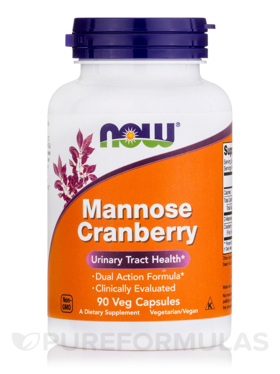 Mannose cranberry 90 vegetable capsules by now