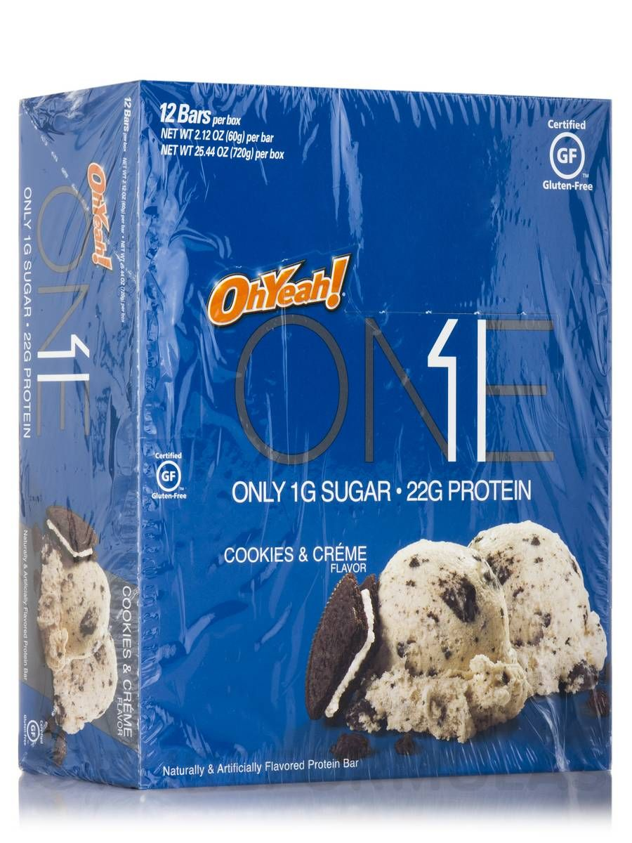 Oh yeah one bar cookies creme flavor box of 12 bars 212 oz 60 grams each by iss research
