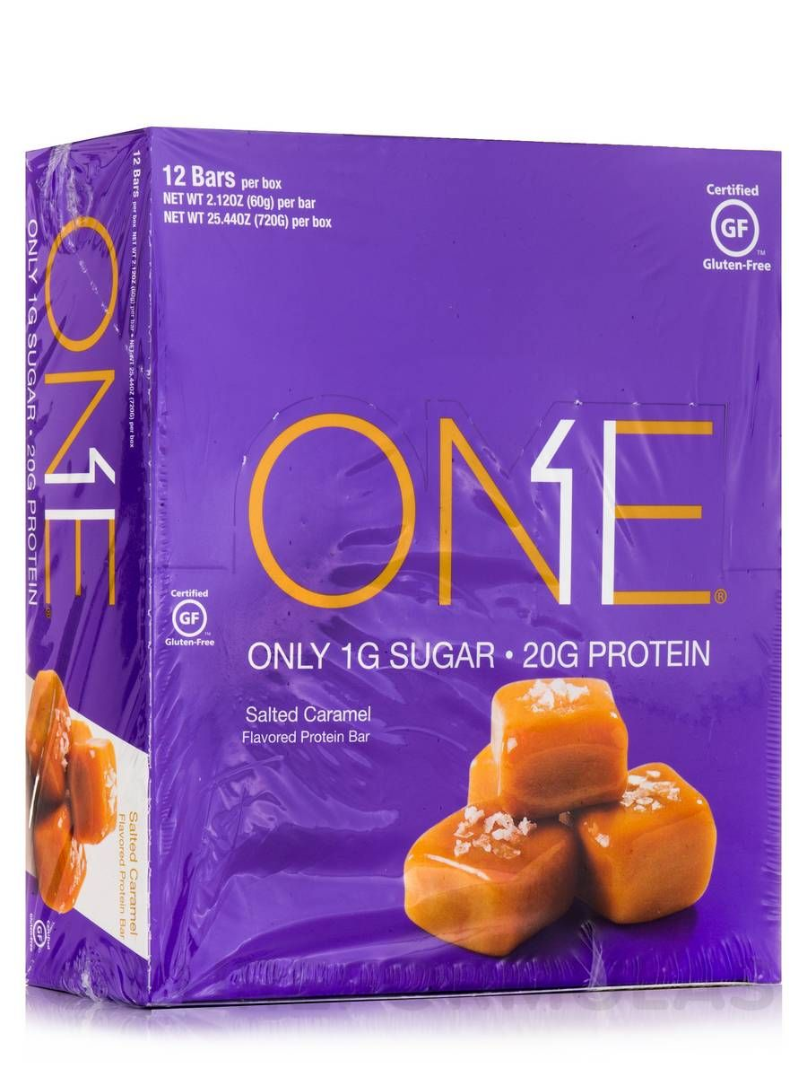 Oh yeah one bar salted caramel box of 12 bars 212 oz 60 grams each by iss research