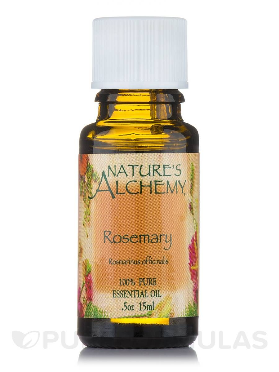 Rosemary pure essential oil 05 oz by natures alchemy