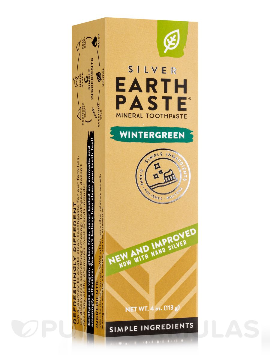 Wintergreen toothpaste 4 oz 113 grams by earthpaste